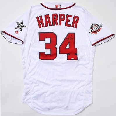 bryce harper autographed jersey